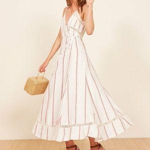 Reformation Daria Striped Midi Dress